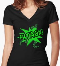 Fhtagn! Women's Fitted V-Neck T-Shirt