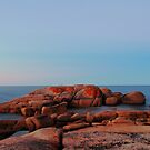 dusk, coastline rocks. eastcoast, tasmania by tim buckley | bodhiimages