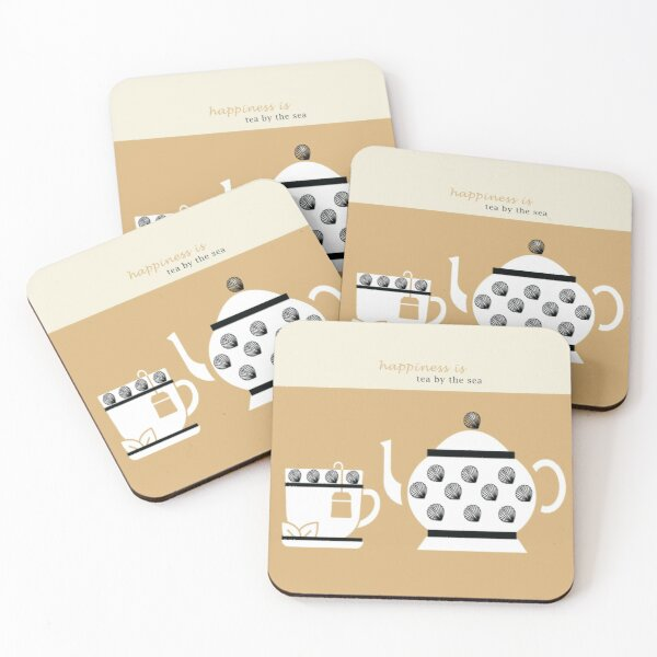 Coastal Happiness Tea Coasters (Set of 4)