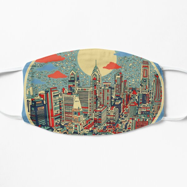 philadelphia panorama 3 Flat Mask