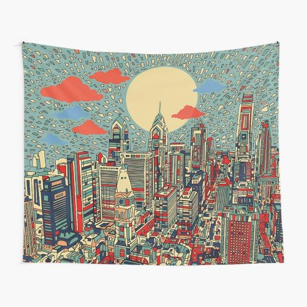 philadelphia panorama 3 Tapestry