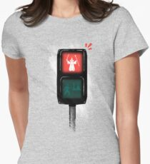 one does not simply jaywalk into mordor Women's Fitted T-Shirt