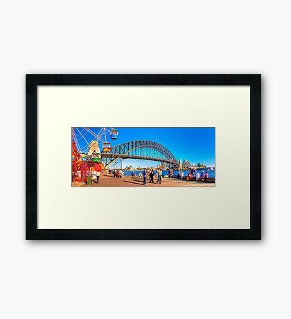 A Day In The City Framed Print