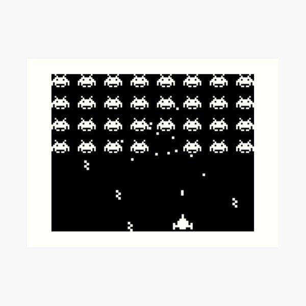 Space Invaders 1 (dark) Lámina artística