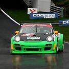 Porsche in the Rain by John Lines