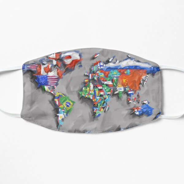 world map flags 3 Mask