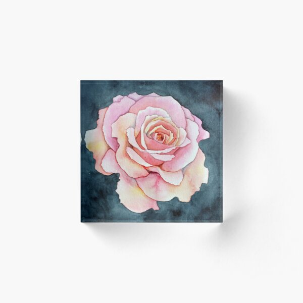 Rose Acrylic Block