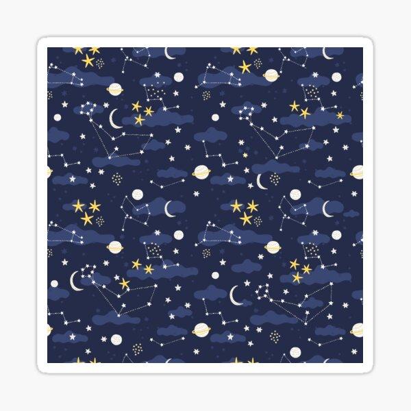 Galaxy - cosmos, moon and stars. Astronomy pattern. Cute cartoon universe design. Sticker