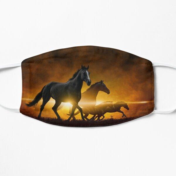 Wild Black Horses Mask