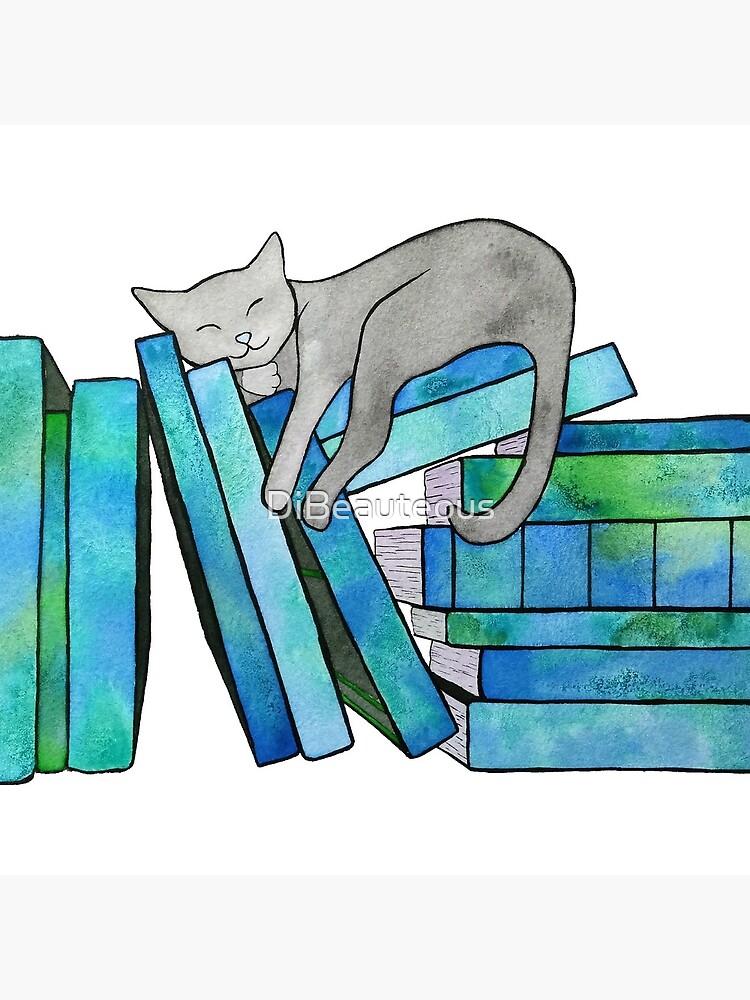 Literary Naps Blue by DiBeauteous