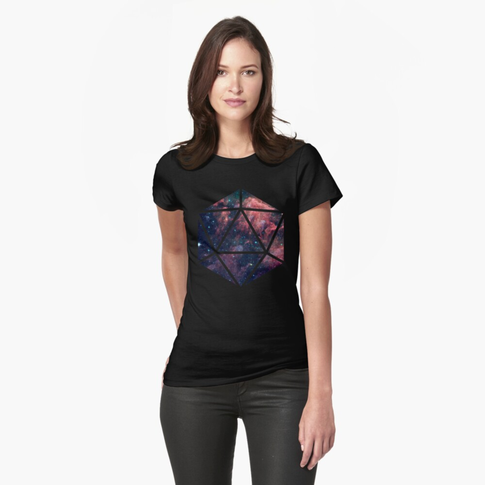 D20 Fairy Dust Fitted T-Shirt