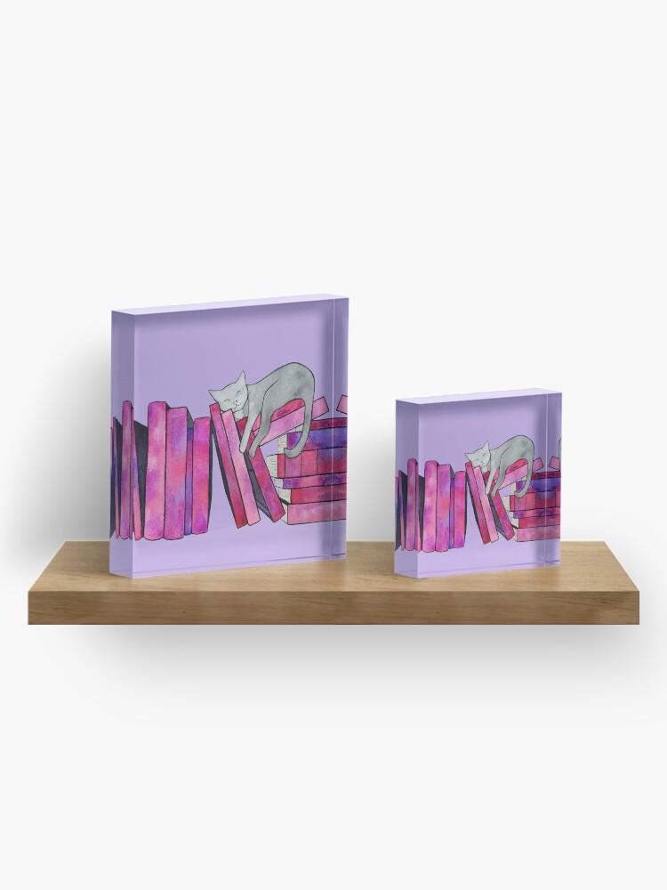 Alternate view of Literary Naps Acrylic Block