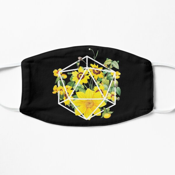 Floral terrarium 20 sided gaming die design Mask