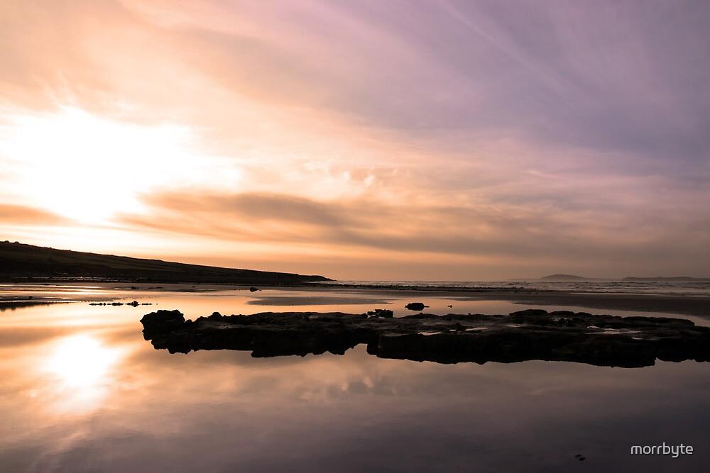 beale purple beach dawn by morrbyte