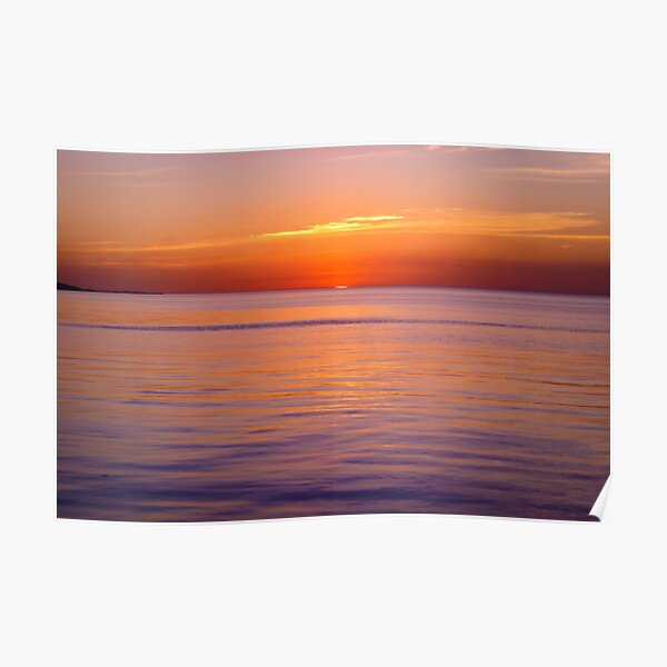 Sunset on the Malecon in Campeche Poster