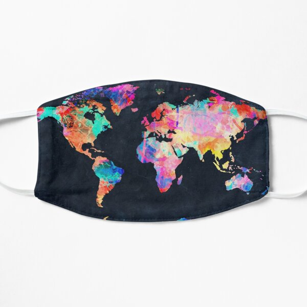 World Map watercolor 2 Mask