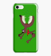 Angry DOG green iPhone Case/Skin