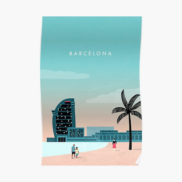 Barcelona Travel Poster Poster