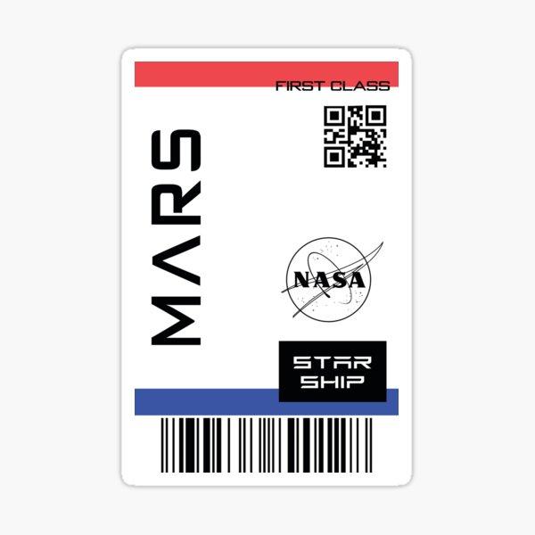 Best Seller - Star ship ticket to mars  Sticker