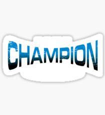 Pokemon Champion_Blue_DarkBG Sticker