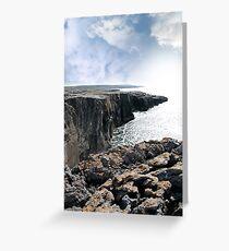 burren cliff edge view Greeting Card