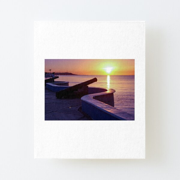 Reflection on the Malecon in Campeche Canvas Mounted Print