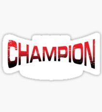 Pokemon Champion_Red_DarkBG Sticker