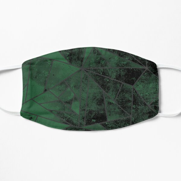 Green and Silver Modern Abstract Geometric Mask