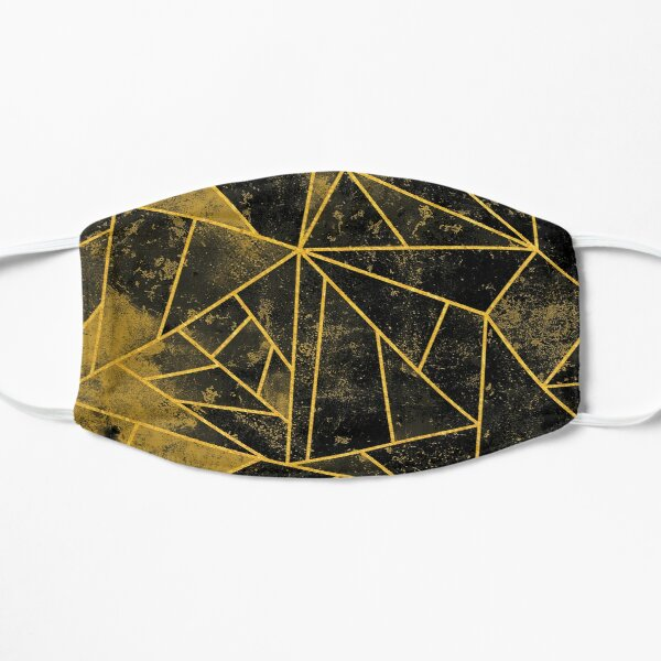 Yellow and Black Modern Geometric Colors Mask
