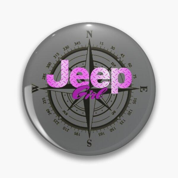 Jeep Girl Diamond Plate Pin