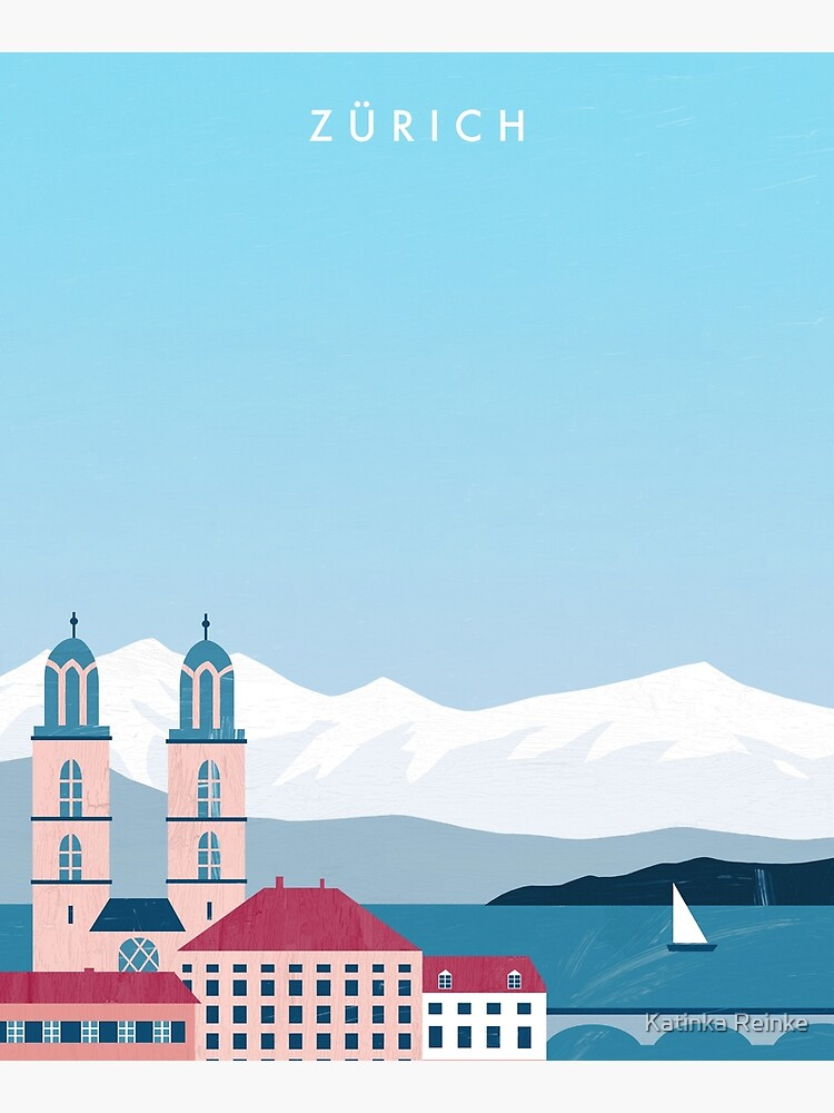 Zurich Travel Poster by katinkareinke