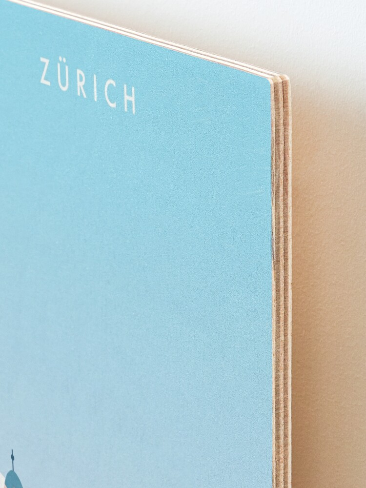 Alternate view of Zurich Travel Poster Mounted Print