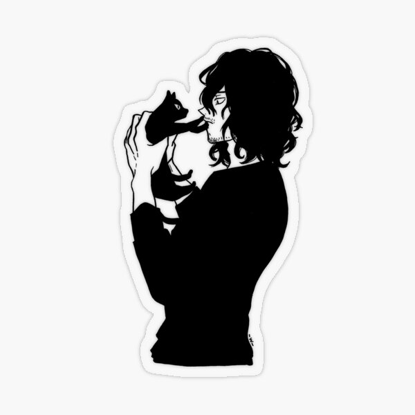 Aizawa Cat Transparent Sticker