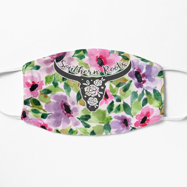 Hand Painted Floral Watercolor - Southern Roots [02] Mask
