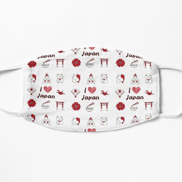 I love Japan (red) Flat Mask