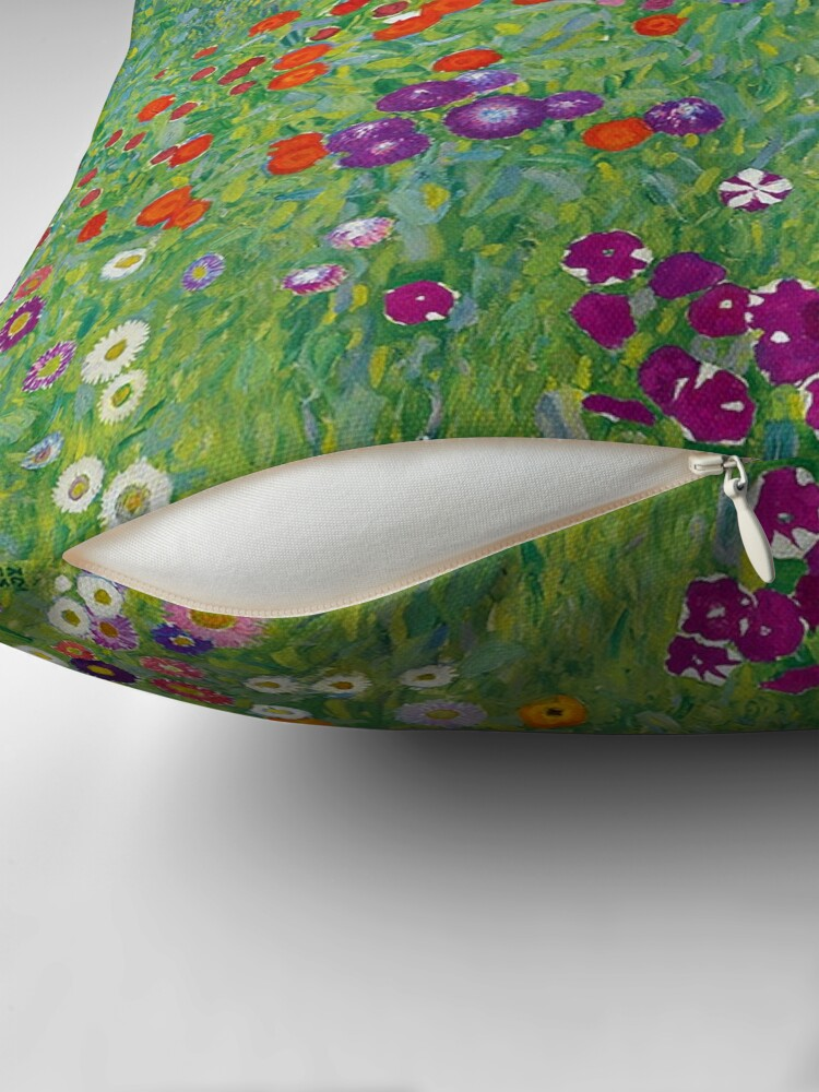 Gustav Klimt Bauerngarten Or Blumengarten Beautiful Floral Landscape Throw Pillow By Newnomads Redbubble