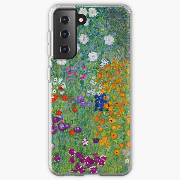 Gustav Klimt - Bauerngarten or Blumengarten - Beautiful Floral Landscape Samsung Galaxy Soft Case
