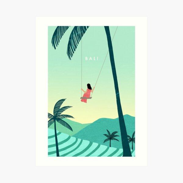 Affiche de voyage à Bali Impression artistique