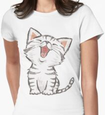 American Shorthair happy Women's Fitted T-Shirt