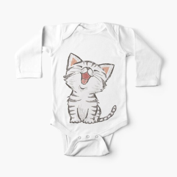 American Shorthair happy Long Sleeve Baby One-Piece