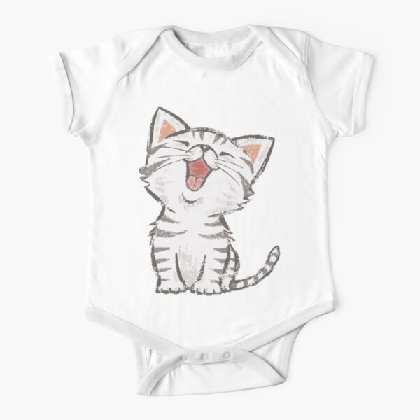 American Shorthair happy Short Sleeve Baby One-Piece