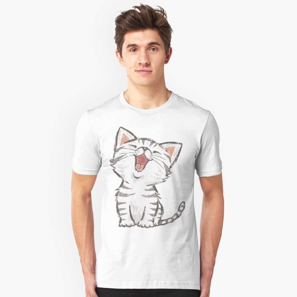 American Shorthair happy Slim Fit T-Shirt