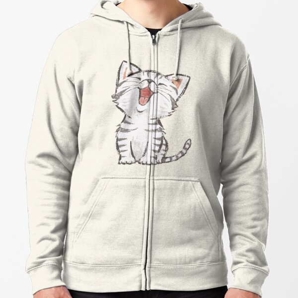 American Shorthair happy Zipped Hoodie