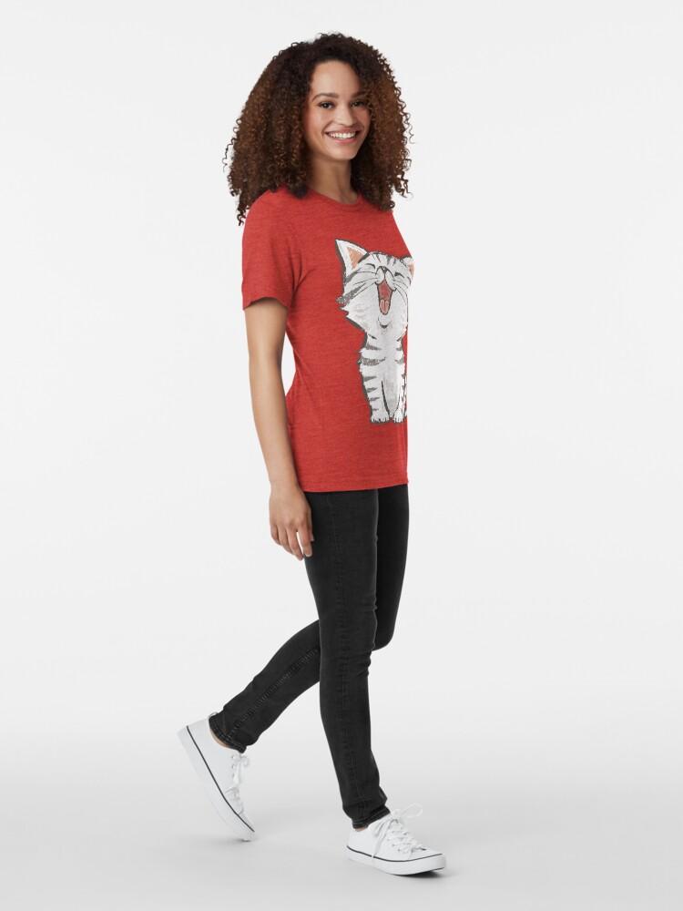 Alternative Ansicht von Amerikanisch Kurzhaar glücklich Vintage T-Shirt