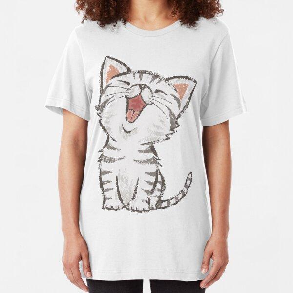 American Shorthair happy Slim Fit T-Shirt