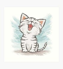 American Shorthair happy Art Print