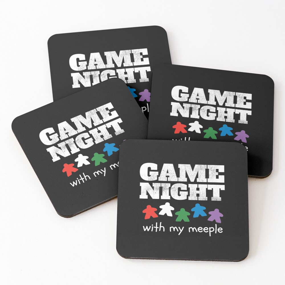 Board Game Night Family Friends Coasters (Set of 4)