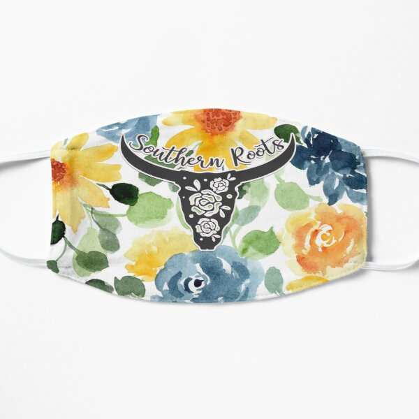 Hand Painted Floral Watercolor - Southern Roots [04] Mask