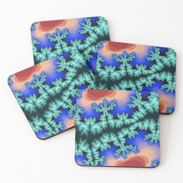 Fractal Art 26 designed and created by (c) Janet Watson Art Coasters (Set of 4)