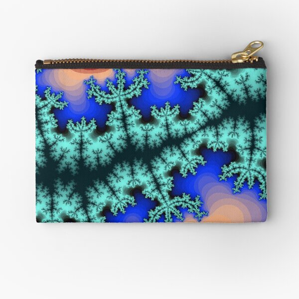 Fractal Art 26 designed and created by (c) Janet Watson Art Zipper Pouch